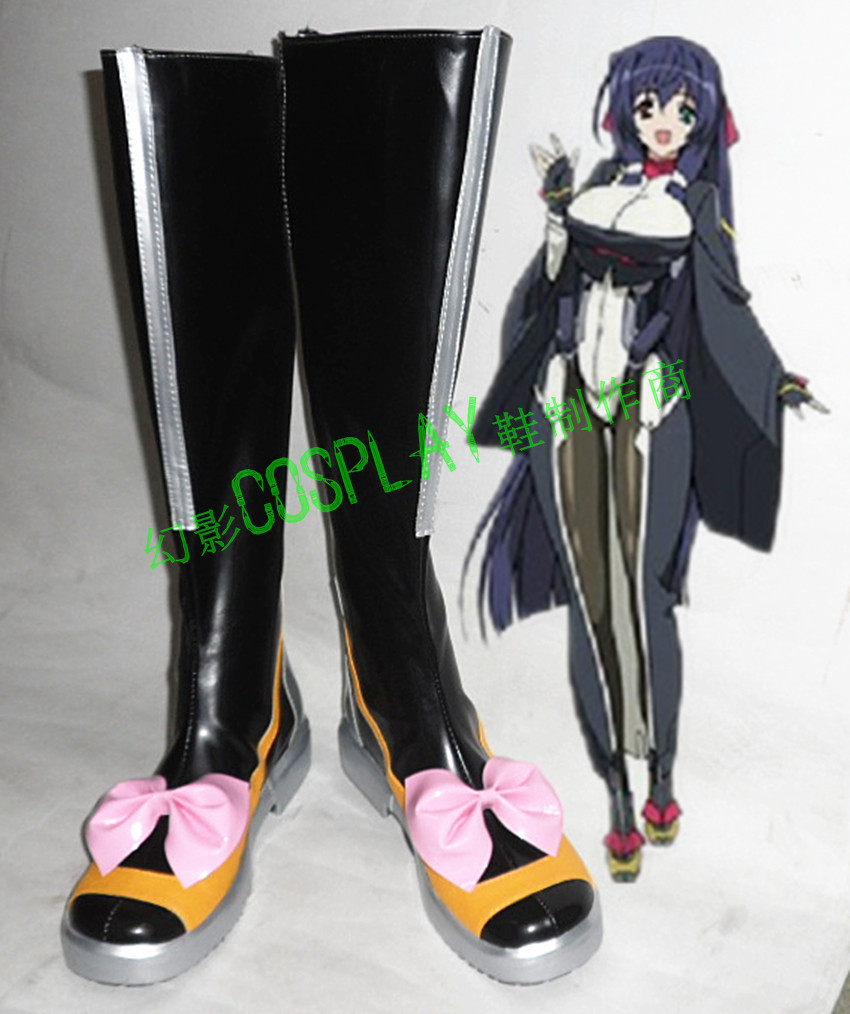 Horizon on the Middle of Nowhere Tomo Asama Black Halloween Long Cosplay Shoes Boots H016
