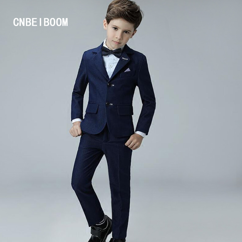 Kids/Children Blue Formal Boys Wedding/Tuxedo / Blazer Suits Boy Clothing Suit Marriages/Performed Baby 3-12 years 4 pcs/sets student performance clothes children clothing sets boys blazers wedding sets pieces boys tuxedo suits