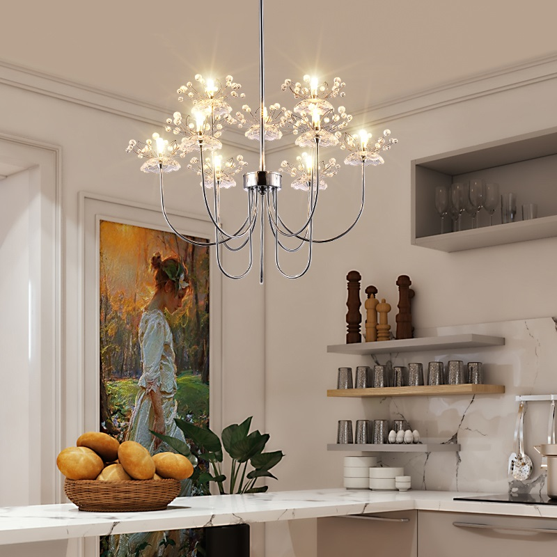 Modern LED crystal chandelier restaurant lighting bedroom fixtures living room illumination novelty lamps Nordic hanging lights коврики в салон novline kia sportage кроссовер 2006 2010 текстильные подложка стандарт 4 шт nlt 25 10 11 110kh