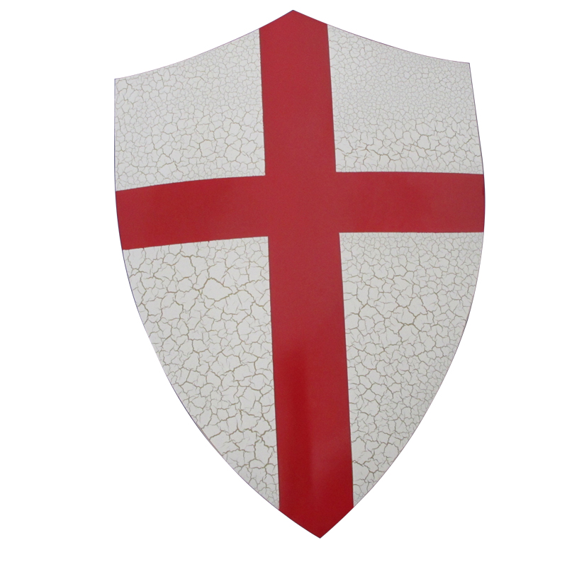 Medieval Shields For Movie Templar Knights Red Cross Crusader Shield Wall Hanging Ornaments Real Steel Material 1