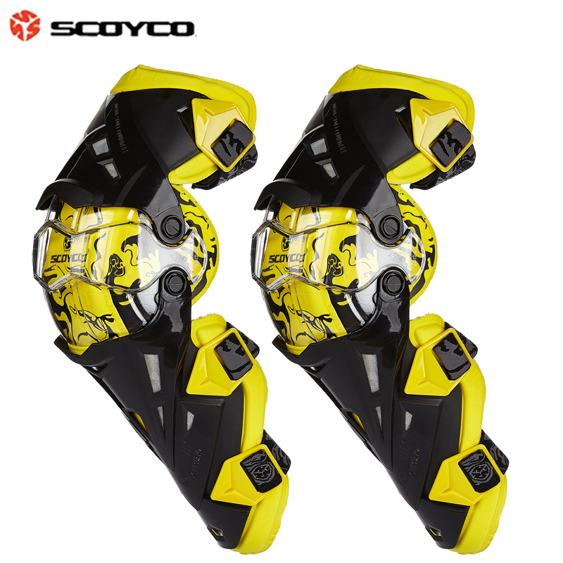 Gears Motorcycle Protective kneepad Scoyco K12 Knee Protector de motocross CE Approval Motocross Racing Knee 2PC/1SET
