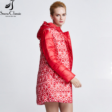 Snowclassic Winter Jacket Women Fashion Padded Coat Thick Long female parka women winter jacket big sale 15311A
