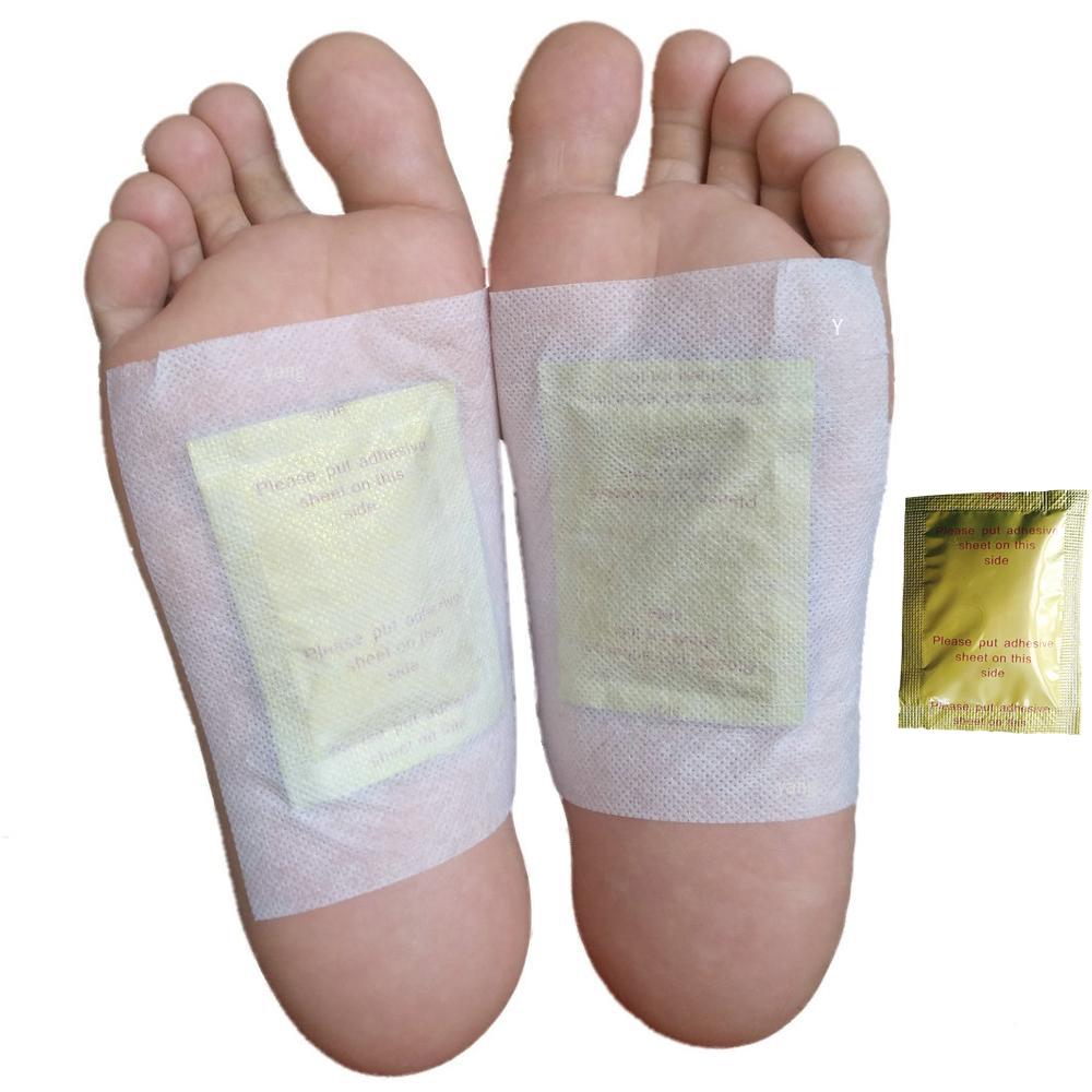 Dropship 200pcs/lot GOLD Premium Kinoki Detox Foot Pads Organic Herbal Cleansing Patches (100pcs Patches+100pcs Adhesives)