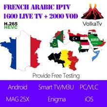 Volka NEO Arabisch Französisch Belgien IPTV 1 Jahr Abonnement Linie Live TV VOD für MAG Android Smart TV Enigma iOS Mobile Tablet PC