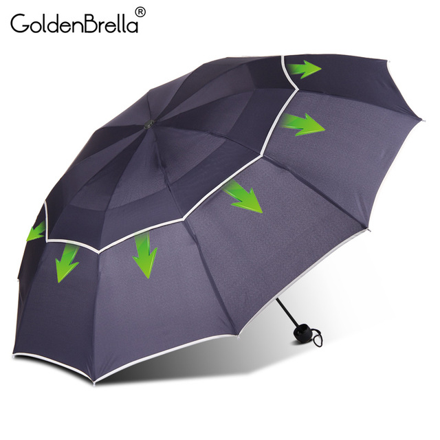 Large Quality Umbrella Rain Women Men 3 Folding Double Layer Strong Wind Resistance Super Umbrella Outdoor Travel Women Umbrella