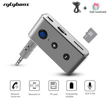 Rylybons Wireless Car Bluetooth Aux Receiver Adapter 4.2+EDR Aux Bluetooth Music Audio Receiver Bluetooth Handsfree Car Kit A2DP(China)