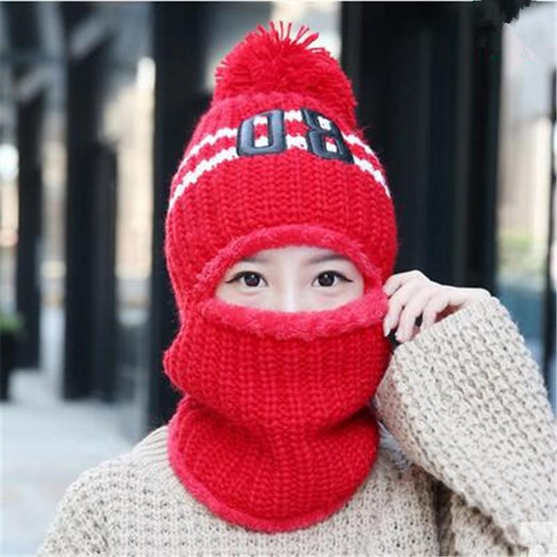 Woman Winter Hats Balaclava Neck Warmer Unisex Motorcycle Beanies Cap Face Mask Beanie For Women Hat Warm Bonnet Female Hot Sale 3pcs unisex hats cap beanies for men