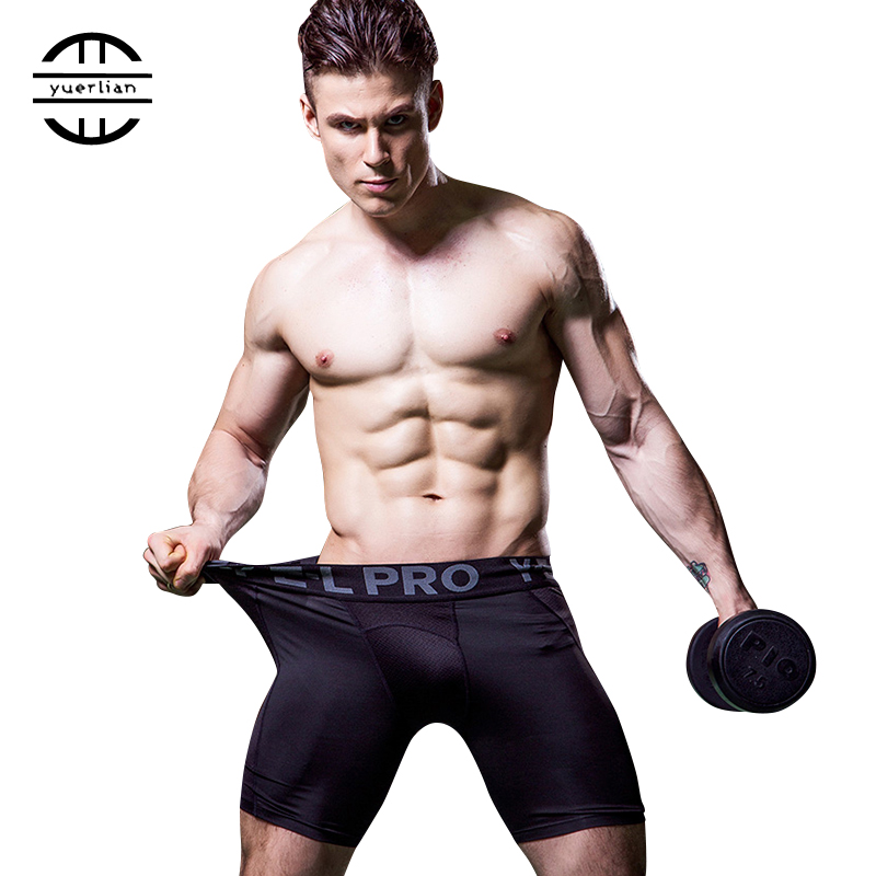 Yuerlian Hot Sale Gym Leggings Men Compression Crossfit Shorts Football Trousers Jogging Pantalones Quickly Dry Running Shorts