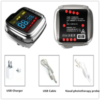 CE certified blood pressure regulating cold laser acupuncture arthritis therapy watch
