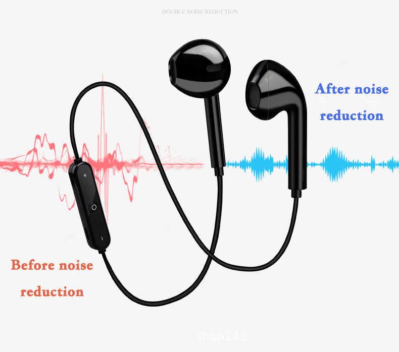 S6 سماعة لاسلكية رياضية حول الرقبة سماعة بلوتوث خط التحكم سماعة للهاتف مع ميكروفون سماعة ل شاومي هواوي
