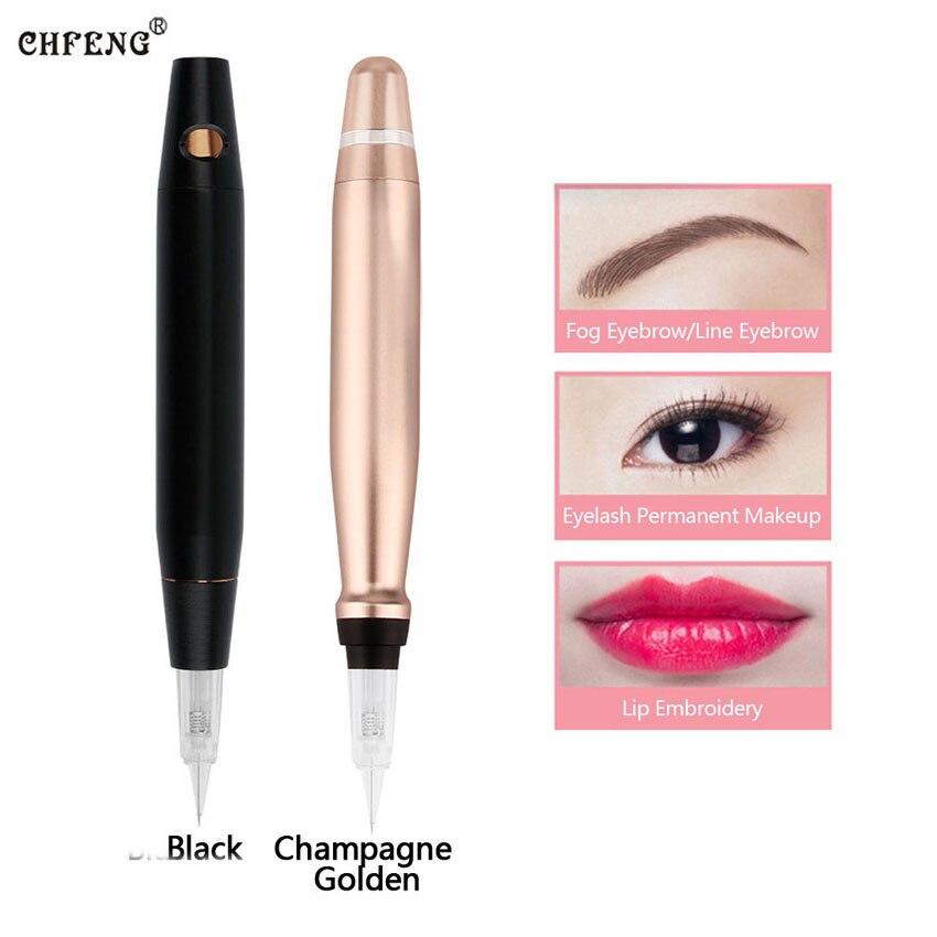 купить Tattoo Machine Pen 3D Embroidery Eyebrow Lip Eyeliner Permanent Makeup Microblading Electric Rotary Tattoo Pen Tattoo Needles по цене 3934.14 рублей