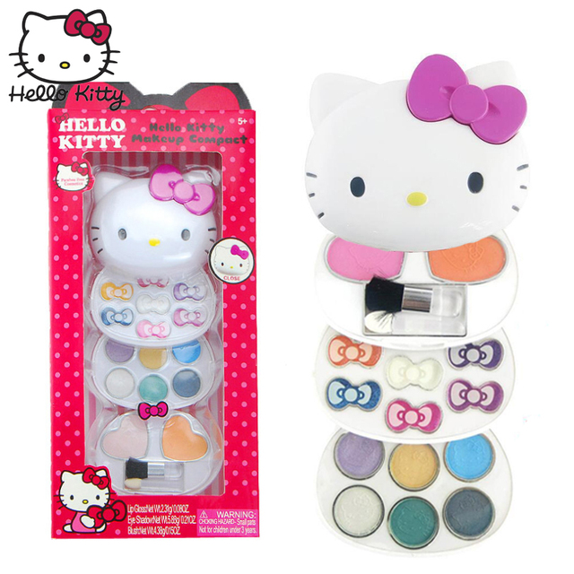 ce98722bb 2019 New Hello Kitty Makeup Kits Toys 5+Years Girls Cosmetics Make Up Box  Best Gift Kids Children Princess Pretend Play Set Safe