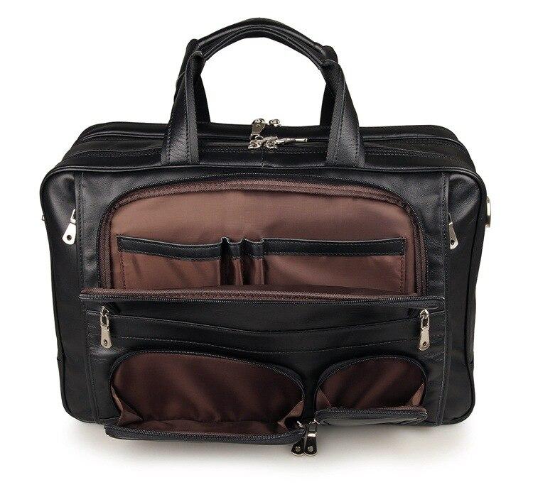 M7289 14 kaffee Aktentasche Zoll Black Portfolio Große Echtem Tasche Schwarz Nesitu Laptop 15 6 coffee Mannkurierbeutel Kapazität Leder Männlichen awq1q7z5
