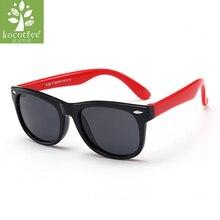 5eb2aabf9 Crianças Kocotree Marca Polarized Óculos De Sol Crianças Flexíveis Óculos  Moldura Quadrada UV400 Sun Glasses Oculos de sol Do Be.