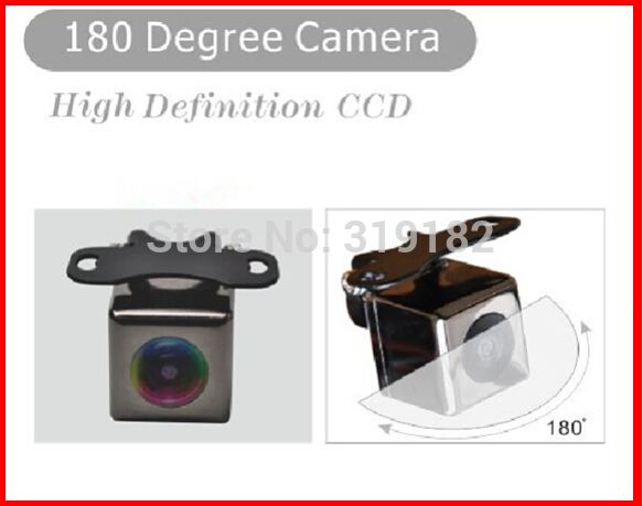 HD CCD 180 rearview font b camera b font to monitor front 3image back 1piecturer font