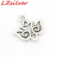 Hot ! 30 pcs  Antique Silver Alloy SWALLOW BIRD Charms DIY Jewelry 15 x 16mm (nm513)