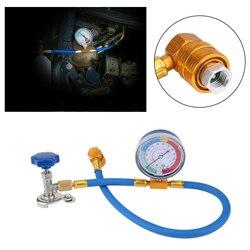 Samochód klimatyzacja do ładowania czynnika chłodniczego pomiaru zestaw wąż gazu miernik R134A R12 klimatyzator miernik samochodu