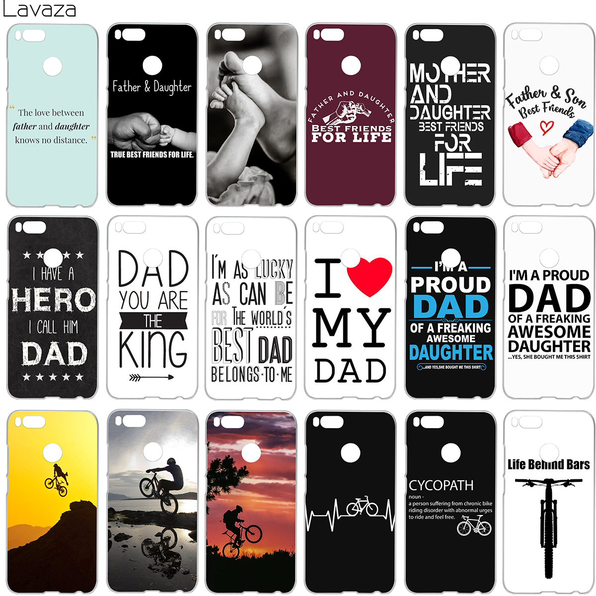 Lavaza Family Daddy And Daughter Son Im A Proud Dad Case for Xiaomi Redmi Note 4 4x 4a mi a1 8 6 se mi8 mi6 Pro