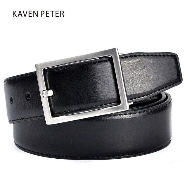 c11376c4ad6 Ceinture en cuir véritable hommes couleur marron et noir ceintures en cuir  de marque de luxe