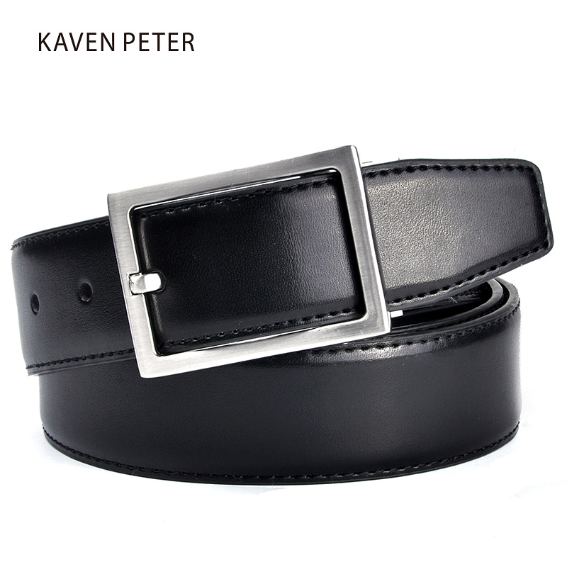 Ekte Leather Belt Menn Brun og Svart Farge Luksus Brand Leather Belter For Jeans For Man Kontorarbeid Classic Man Belter