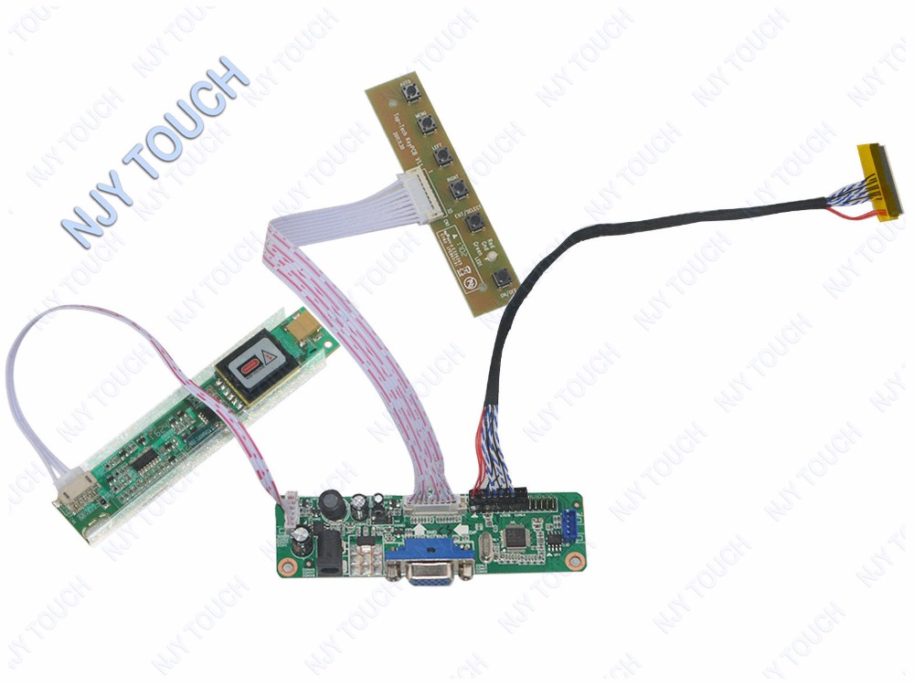 VGA LCD Controller Board kit Work For 14.1inch B141XG08 B141XG09 1024x768 CCFL LCD Panel