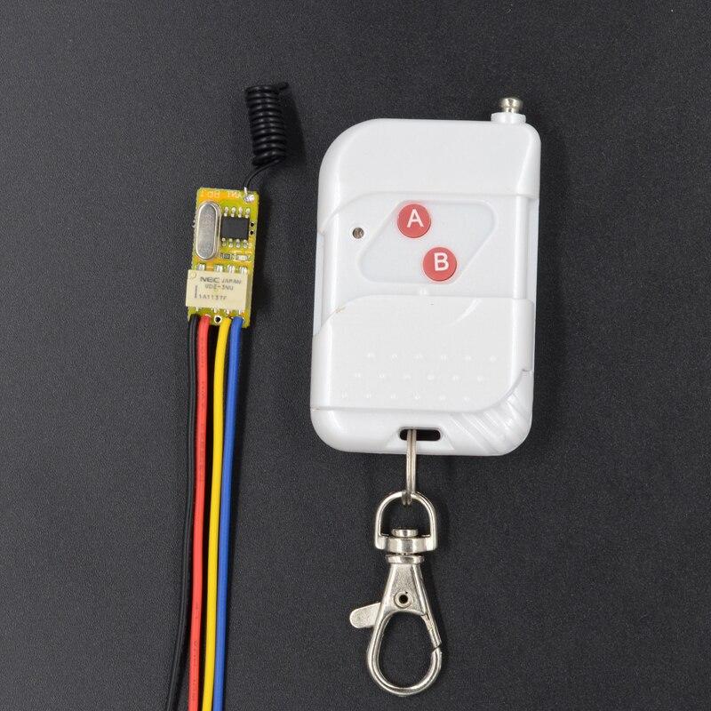 Smart Remote Control Switch 3.7V 4.5V 5V 6V 7.4V 9V 12V Relay Contact Wireless Switch Learning ASK Portable LED Remote Lighting