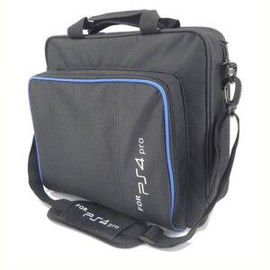 Image 3 - ل PS4/PS4 برو سليم لعبة Sytem حقيبة الحجم الأصلي ل بلاي ستيشن 4 وحدة التحكم حماية الكتف حقيبة حمل حقيبة يد قماش