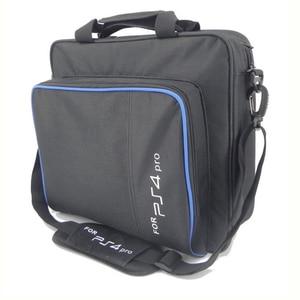 Image 3 - Ps4/ps4 프로 슬림 게임 시스템 가방에 대 한 원래 크기 플레이 스테이션 4 콘솔에 대 한 보호 어깨 캐리 가방 핸드백 캔버스 케이스