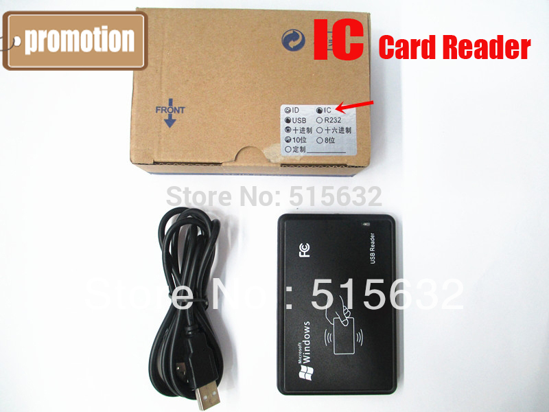 High Quality New Security Black RFID USB IC Card Reader with usb interface (8~10cm) 13.56MHz magnetic card reader msre206 magstripe writer encoder swipe usb interface black vs 206 605 606 ship from uk us cn stock
