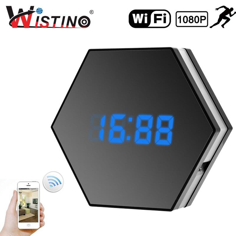Wistino 1080 P WIFI Mini Caméra Temps D'alarme Sans Fil Nounou IP Caméra CCTV de Sécurité À Domicile Horloge P2P Night Vision Motion détection