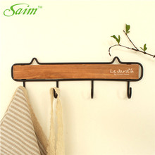 Saim Decorative Hook Door Wooden Hooks for Hanging Clothes Hooks Home Wall Row Hooks Key Holder Wall Hanging Rack Kitchen Hanger цена и фото