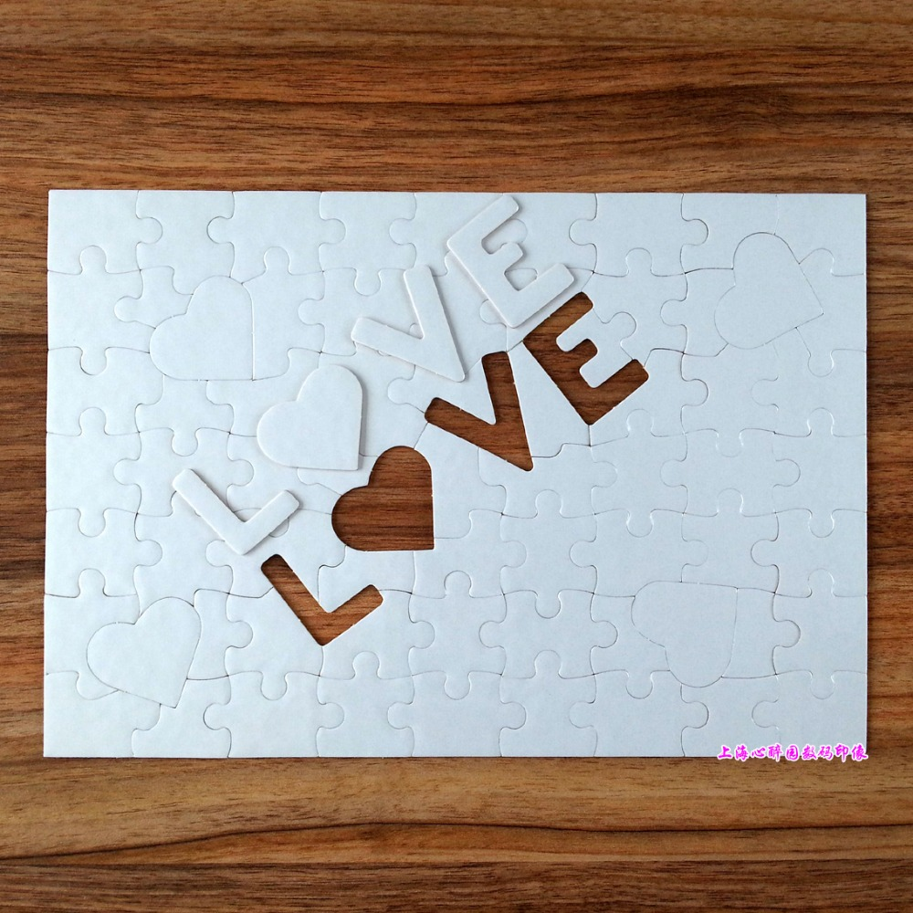 Free Shipping A4 LOVE Sublimation Blank Puzzles 10 Pcs DIY Craft Jigsaw Puzzle Heat Press Sublimation INK Transfer