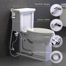 Регулируемый пистолет-распылитель для унитаза из нержавеющей стали, набор, маленький душ, биде, туалет, распылитель, чистящий пистолет, сиденье для унитаза, сопло, аксессуар