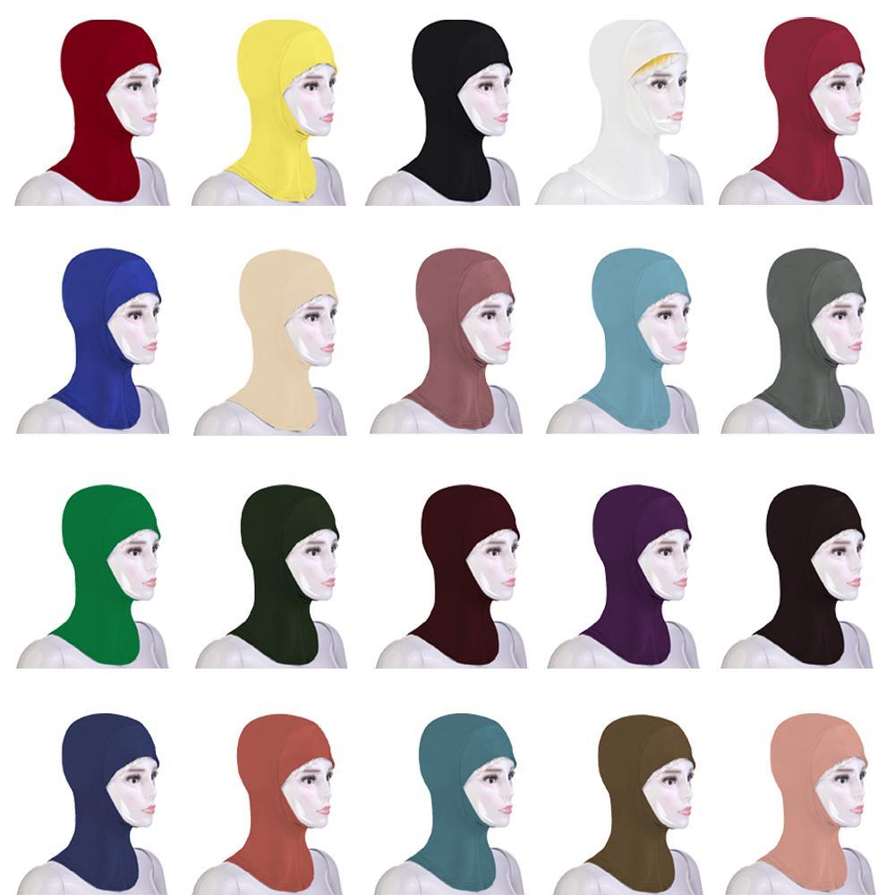 New Muslim Women Underscarf Cap Soft Bonnet Ninja Hijab Hat Neck Cover Headwrap Arab Amira Turban Islamic Niquabs Hijabs Fashion