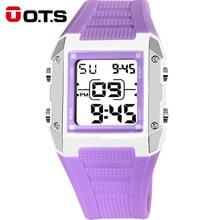 OTS Children's Watch for Girls Boys Cute Kids Watches Sports Cartoon LED Digital Watch Black Light Alarm Student Wristwatches