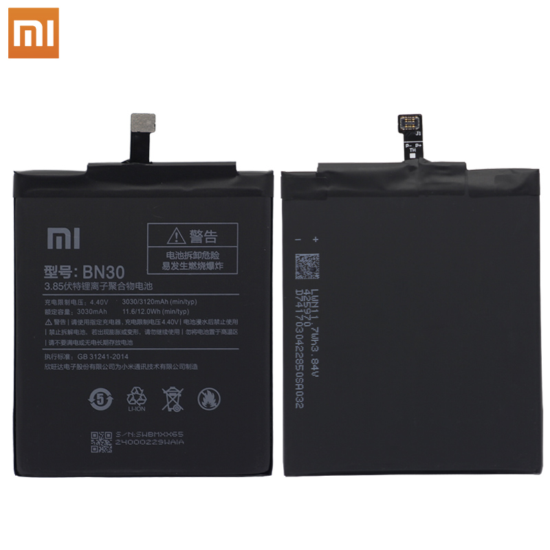 Xiao Mi Original Phone battery For Xiaomi Redmi 4A Battery BN30 3120mAh Redrice 4A Hongmi 4A Bateria High Quality Tools in Mobile Phone Batteries from Cellphones Telecommunications