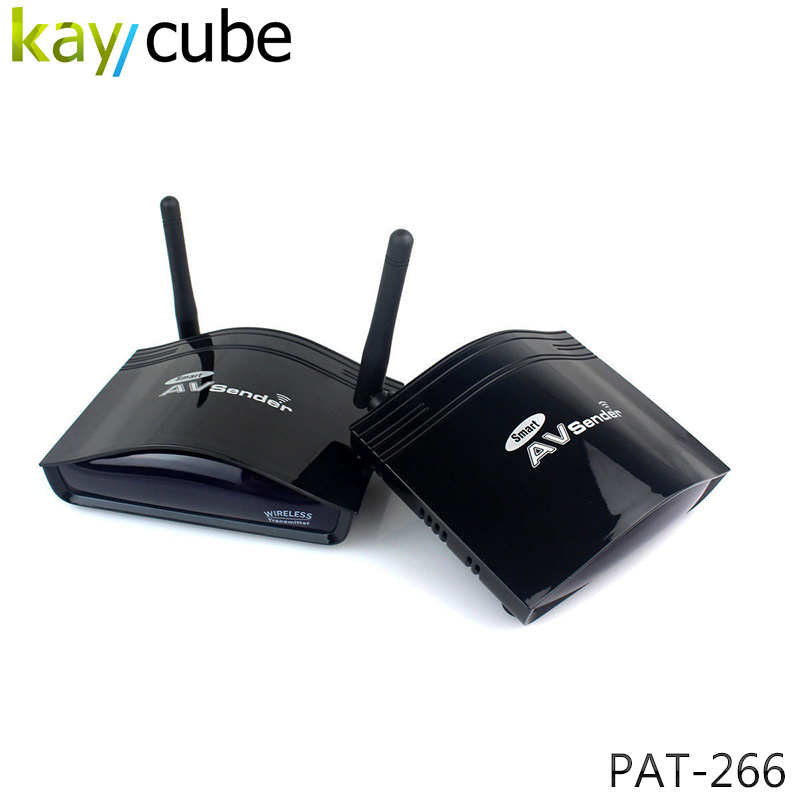 350 Meter 2.4GHz STB Wireless Long Range RCA/AV Transmitter and Receiver PAT-266 TV Audio Video Sender Wireless Sharing Keycube wireless av sender and receiver pat 350 2 4g 250m wireless a v audio video sender transmitter and receiver with eu us uk au plug