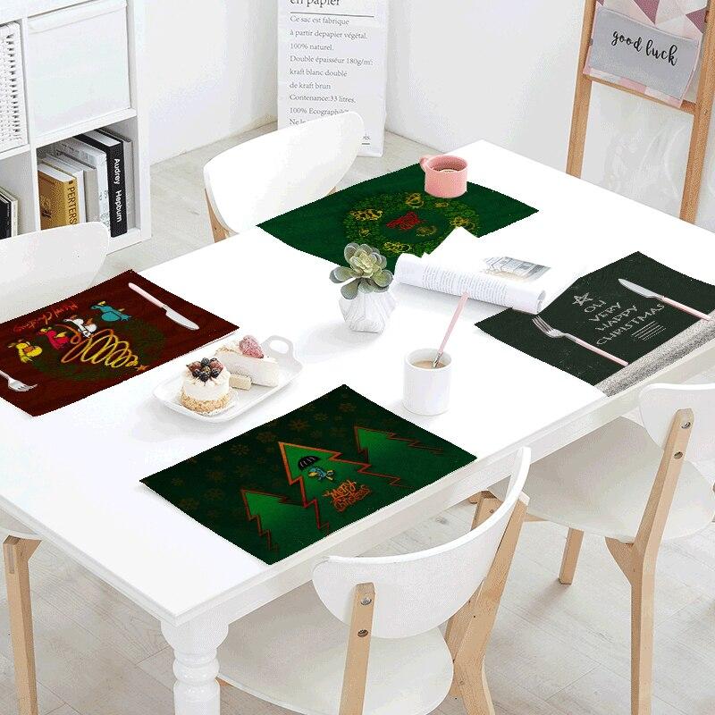 Kitchen Art 32cm: Merry Christmas Series Napkins 42*32Cm Linen Material