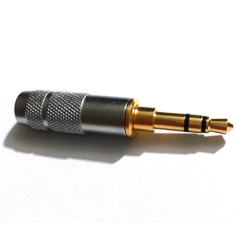 1pcs Gold plated Stereo 3.5mm 3 Pole Repair Headphone Jack Plug Cable Audio S0N24 P40