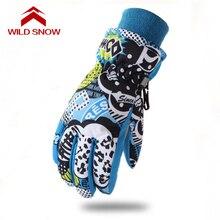 Ski-Gloves Printed Kids Children WILD Outdoor for 6-12 Yrs K003 Warmth