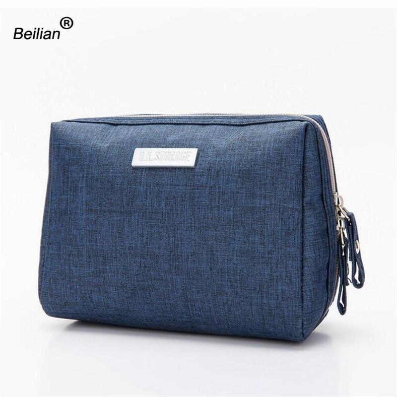 Korea Fashion Women Cosmetic Toiletry Bag Clutch Handbags Make Up Organizer Pouch Bag For Travel Trip Carry-on Companion Zipper