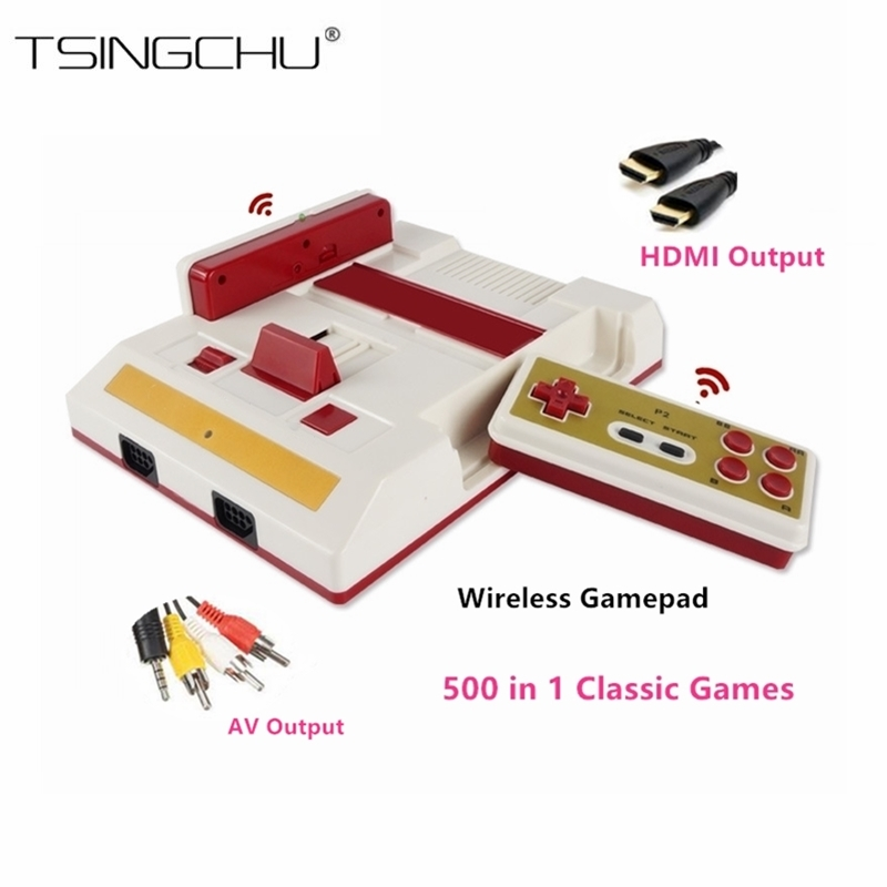 Classic Retro Family TV Handheld Game Player HDMI Output Dual Wireless Gamepads Mini TV Video Game