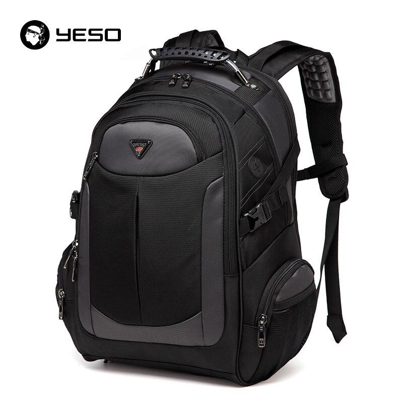 YESO Brand Laptop Backpack Men's Travel Bags 2018 Multifunction Rucksack Waterproof Oxford Black Computer Backpacks For Teenager