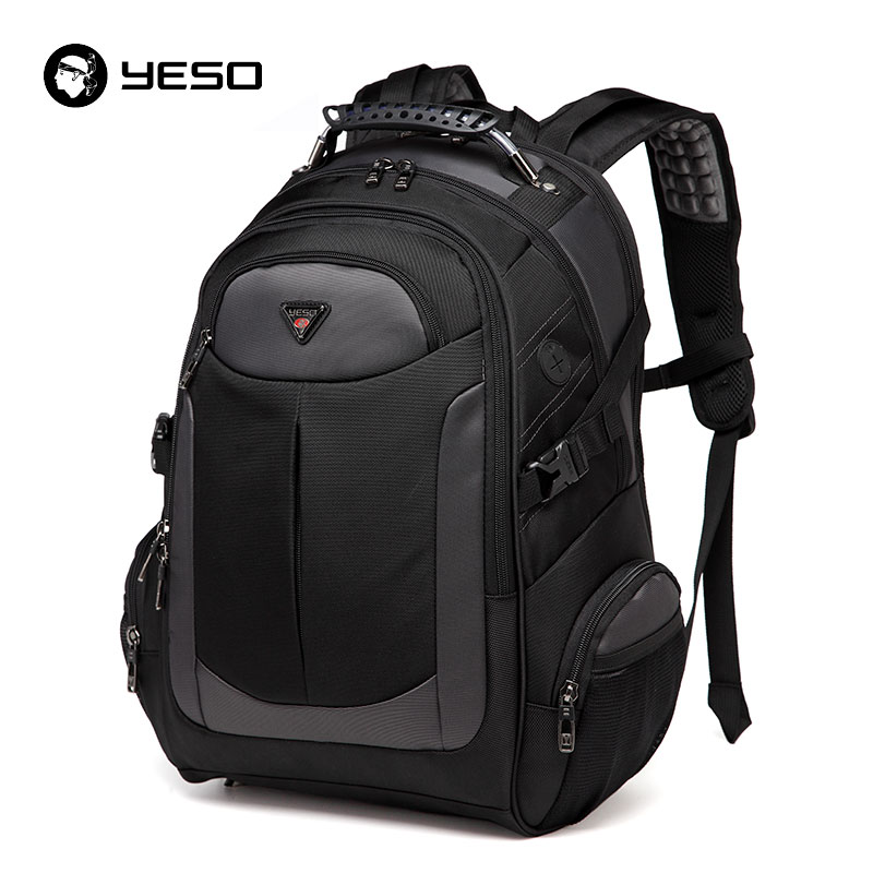 YESO Brand Laptop Backpack Men's Travel Bags 2017 Multifunction Rucksack Waterproof Oxford Black School Backpacks For Teenagers