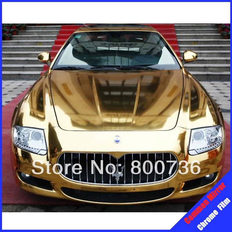 Заводская цена(1,52x30 м) 60 ''X 1181'' воздушные пузыри 8 цветов зеркальная Хромированная пленка для автомобиля виниловая пленка