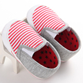 2016 New arrival Pink Striped Toddler Infant Baby moccasins Casual Sneaker first walker hard Sole Crib Shoes
