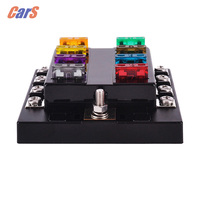 BEST Car Fuse Box 8 Way Circuit 32V DC Blade Fuse Holder Box Block 0 25A