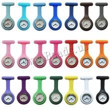 Новые часы медсестер врач портативный брелок Часы Броши силиконовые Туника батареи Медсестра часы кварцевые с зажимом