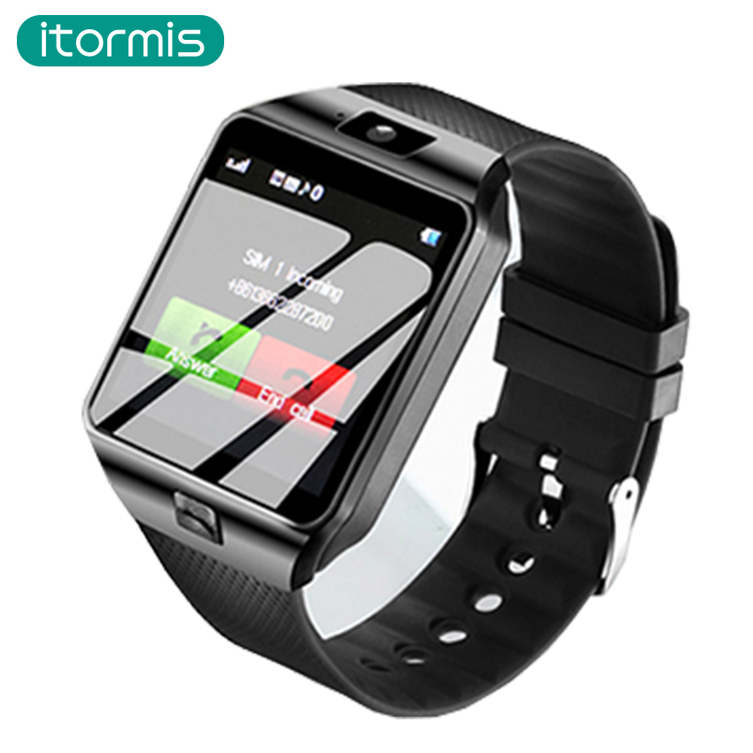 itormis Bluetooth Smart Watch Phone Smartwatch with Pedometer Touch Screen Camera Support TF SIM Card for Android iOS Smartphone