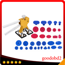PDR Tools Kit Paintless Dent Repair Tools Golden Dent Lifter + PDR Glue Tabs Auto Body Dent for Car Remove Dents
